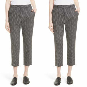 THEORY LIKE NEW Good Wool Crop Pants